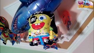 Amazing Balloon Helium SpongeBob SquarePants, Upin & Ipin, Nemo Vs Air Swimmers Shark Toys For Kids