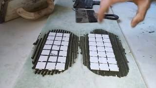 видео Правильная укладка мозаики своими руками