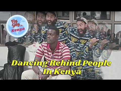 Dancing Behind People in Kenya   Meir Kay Style