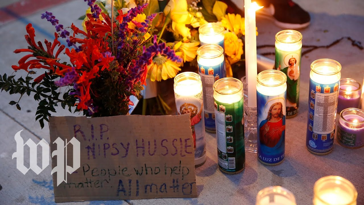 Thousands gather for slain rapper Nipsey Hussle's funeral