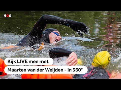 NOS | 360° LIVE: 11stedenzwemtocht Maarten van der Weijden