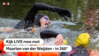 NOS | 360°: 11stedenzwemtocht Maarten van der Weijden 2019