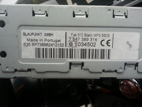 blaupunkt car 2003 serial number