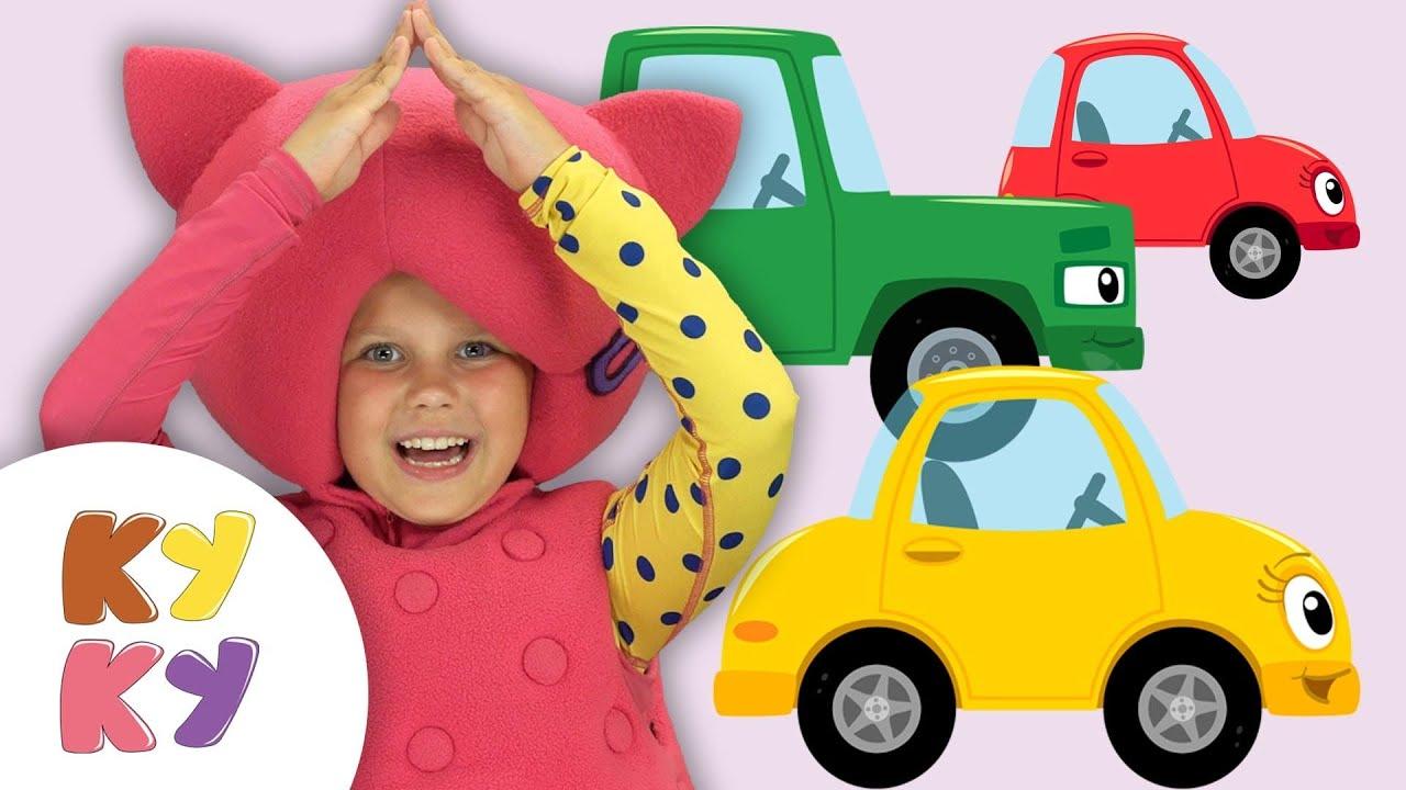 МАШИНКИ И ГАРАЖИ - Кукутики - Песенка мультик для детей учим цвета