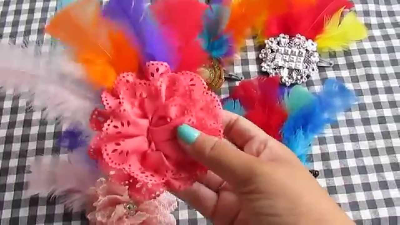 d49cbba675e1f DIY  Enfeite de Cabelo -Carnaval-2015- faça você mesma. - YouTube