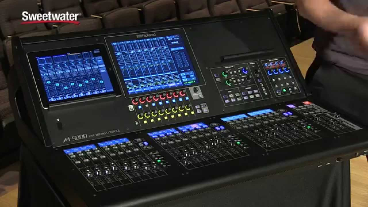 roland m 5000 digital mixing console overview sweetwater sound youtube. Black Bedroom Furniture Sets. Home Design Ideas
