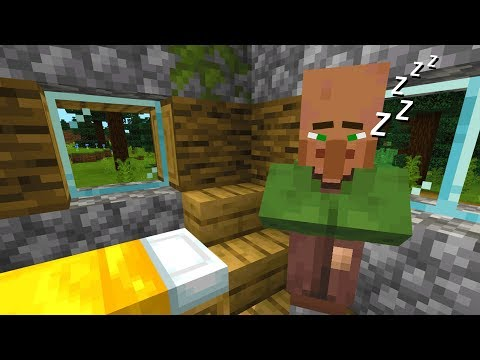 Not letting a Minecraft villager sleep for 24 hours.. (SCARY)
