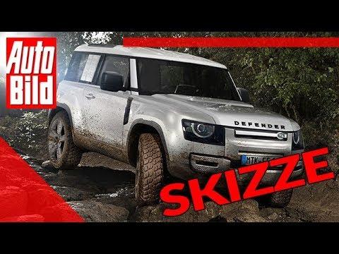 2020 Land Rover Defender Release Date >> Land Rover Defender 2020 Neuvorstellung Skizze Details