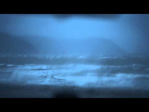 North Wales stormy seas, ASMR, no talking