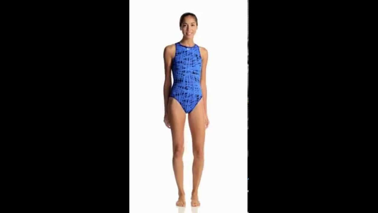 Nike Women s Blaze High Neck Tank Water Polo One Piece Swimsuit ... 331bb1ec9075c