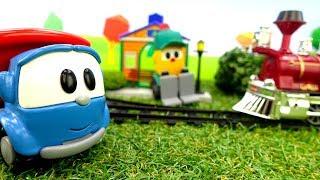 Фото Машинки Лева и Грузик. Видео для детей. Железная дорога