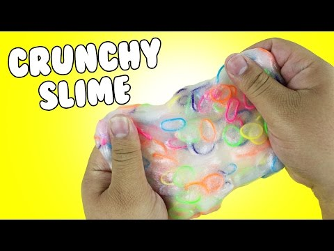 DIY | Rubber Band Slime - HOW TO MAKE CRUNCHY SLIME!!! + CRUNCHY SLIME ASMR!!!