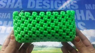 Crosscut purse making easy and clear tutorial