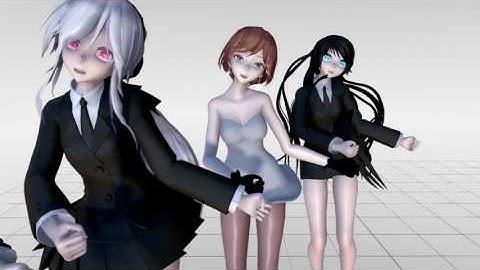 [MMD]1604 TDA Uniform Haku,Tori,Yoru&Meiko Hot Dance SHAKE IT OFF [DL][1080P,60FPS]