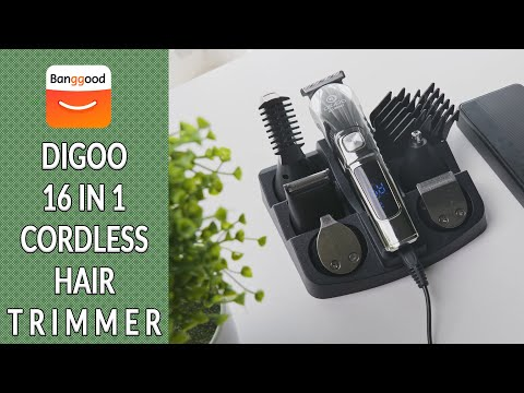 DIGOO 16 IN 1 Cordless Hair Trimmer | 600mAh USB Rechargeable | Banggood