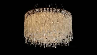 Beautiful Crystal Chandelier Ceiling Lighting Fixture FREE SHIPPING!
