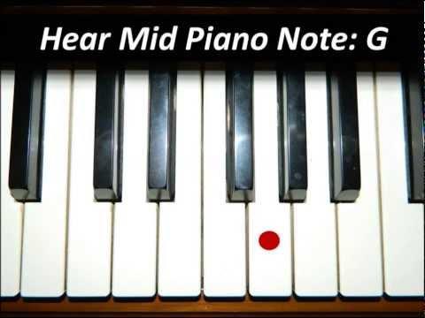 Hear Piano Note - Mid G
