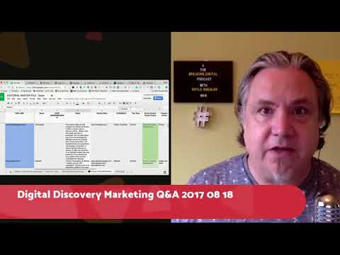 Digital Discovery  Strategy and Marketing Doyle Buehler - Ask Me Anything 2017 08 17
