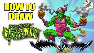 How to draw Green Goblin step by step easy narrated drawing tutorial