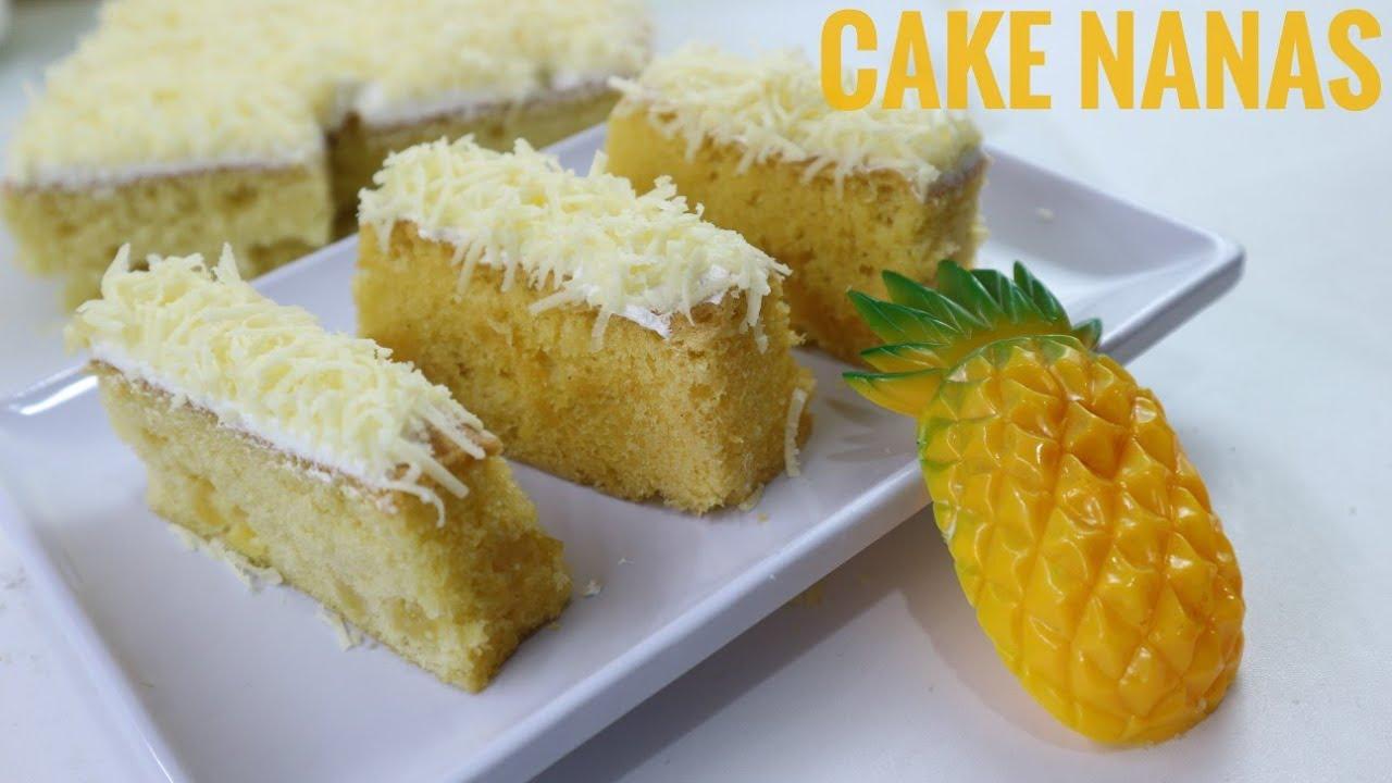 Cara Membuat Cake Nanas Yang Lembut Dan Enak Youtube