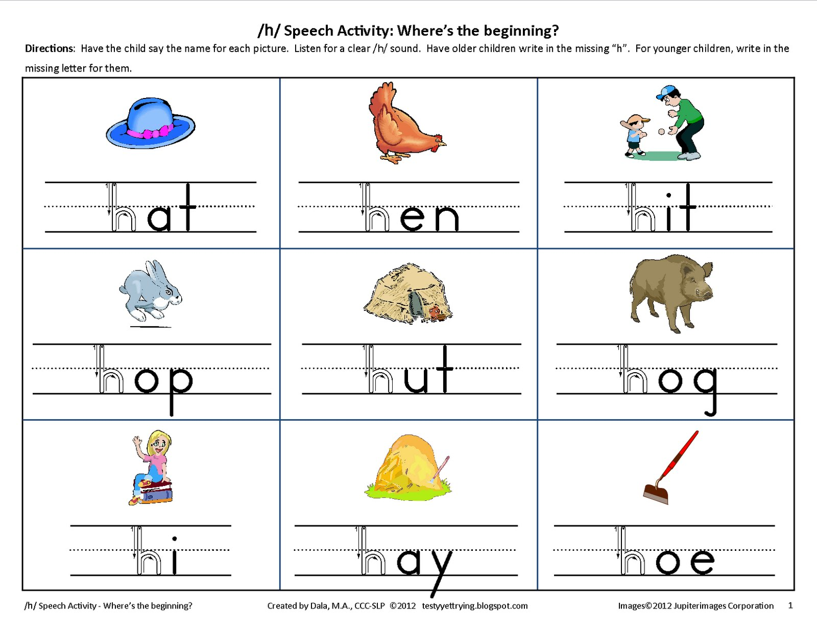 Fun Phonics Worksheets