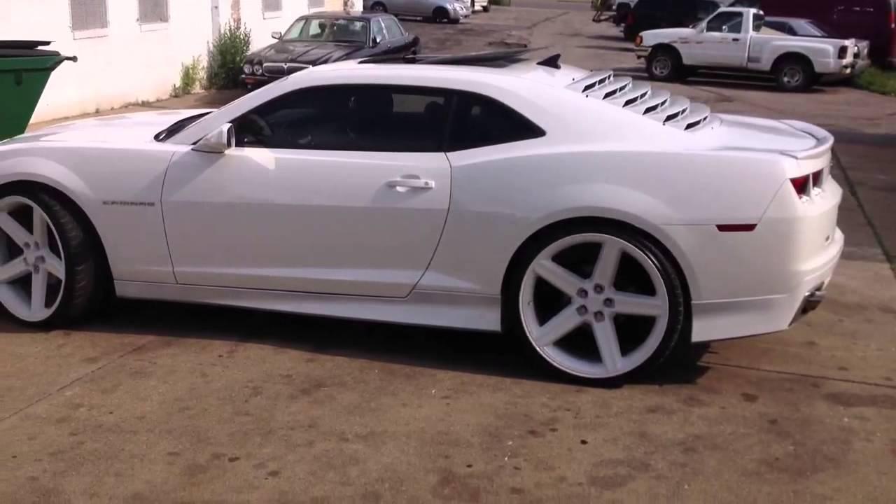 All White Camaro On 24 Quot Irocs Youtube