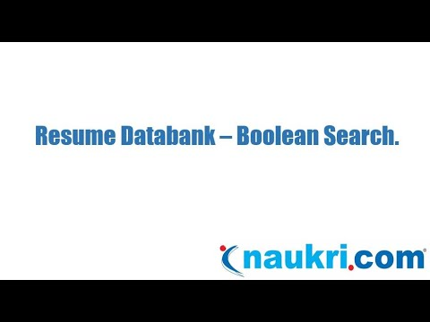 How to do Boolean search in Naukri's database - Naukri.com