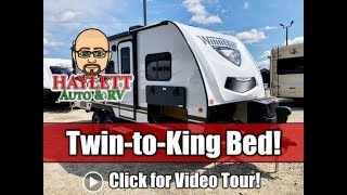 UPDATED 2020 Winnebago 2108TB Twin to King Bed Carpetless Mini Ultralite Travel Trailer