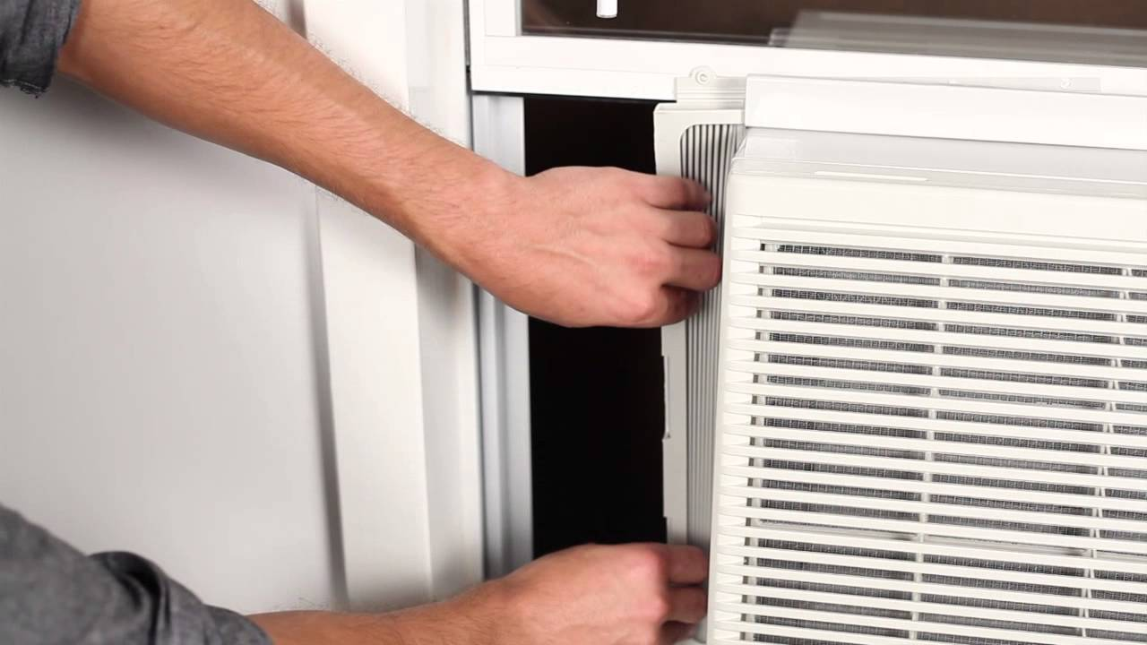 How To Install A Window Air Conditioner Youtube Hotpoint Wiring Diagram