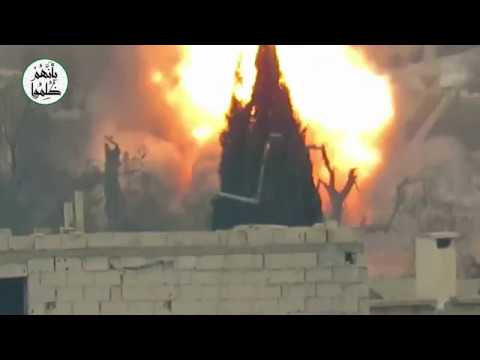 VIDEO: Rebels Use U.S.-Made Anti-Tank TOW Missile To Destroy Bulldozer In Eastern Ghouta