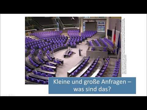 Kleine und große Anfrage im Bundestag - Was sind das eigentlich? (Politik erklärt)