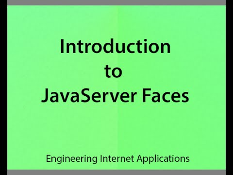 v30 Introduction to JavaServer Faces (JSF)