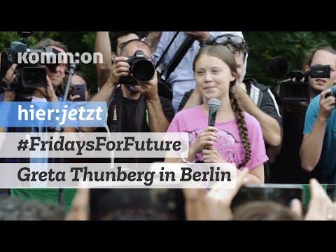 #FridaysForFuture | Greta Thunberg bei Kundgebung in Berlin - 19.07.2019