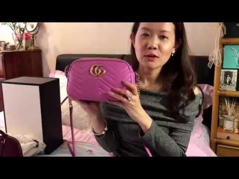 d7537c6e671a5 Gucci GG Marmont Matelasse Pink Detailed Review + What s in my bag ...