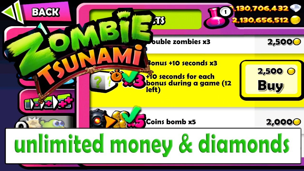 download zombie tsunami mod apk unlimited diamond