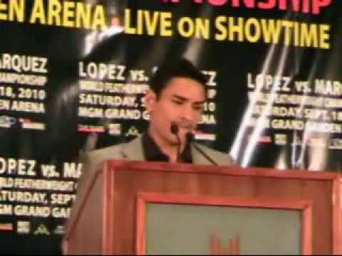 Juan Manuel Lopez vs. Rafael Marquez Press Confere...