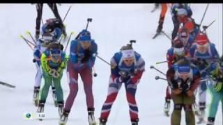 2017.01.12 - Биатлон - Кубок Мира 2016-2017, эстафета, женщины - UA-Перший