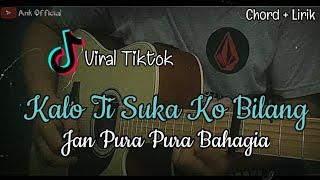 Berhenti Kasihan viral tiktok (lirik + kunci gitar) akustik cover by ank official