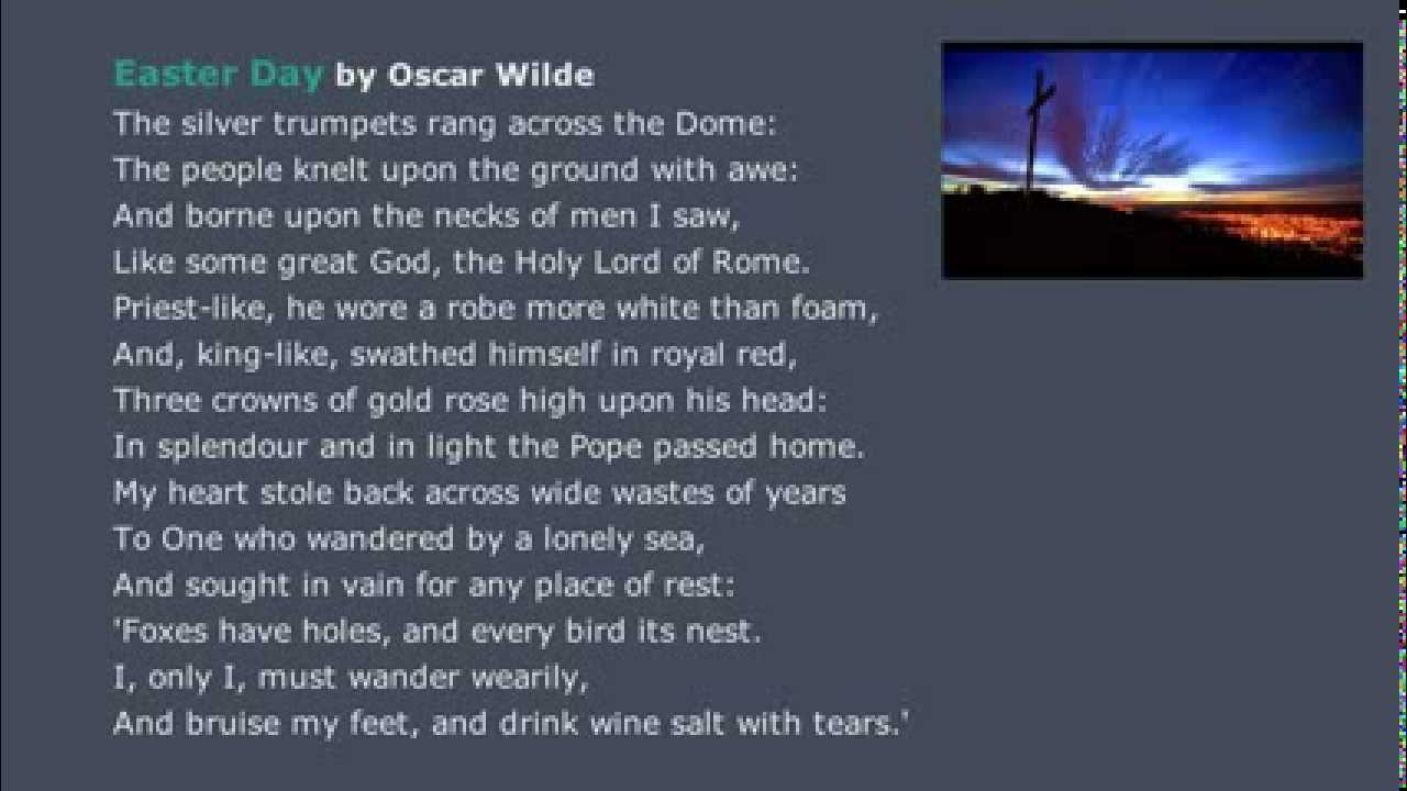 Easter Day A Poem By Oscar Wilde