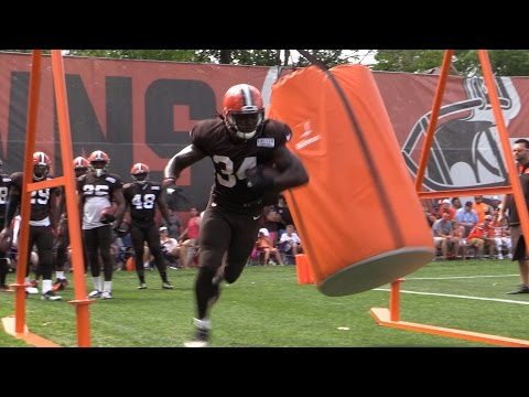 Workout with the Cleveland Browns running backs (video)