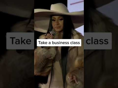 Take business class ,become your own boss /cardi B ❤ #shorts