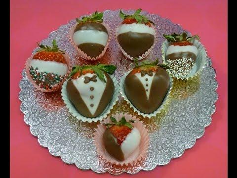 Como decorar fresas con chocolate youtube - Decoracion con chocolate ...