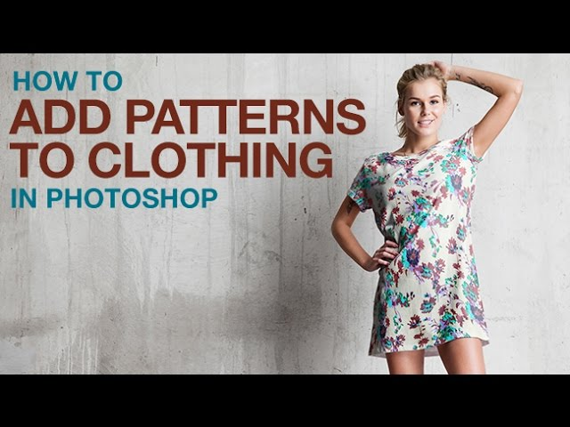How To Add Patterns To Clothing In Photoshop Youtube