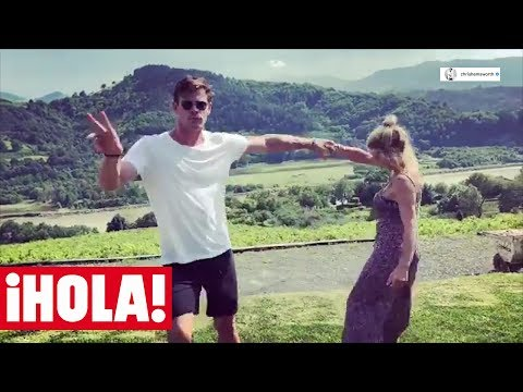 Chris Hemsworth y Elsa Pataky, bailando 'Despacito' y escanciando en el País Vasco