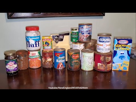 Short Version, Opening And Dumping Out Decades Old Canned Foods