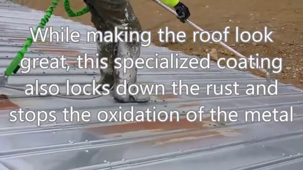 Rust Inhibitive Coating Empire Roof Coatings Youtube