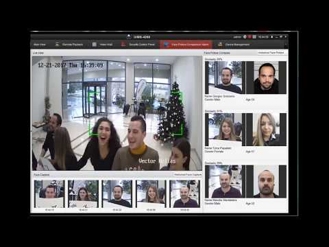 Hikvision Face Detection Happy New Year Vector 2018