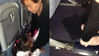 Grandmother Lets Child Pee on Cabin Floor During Flight