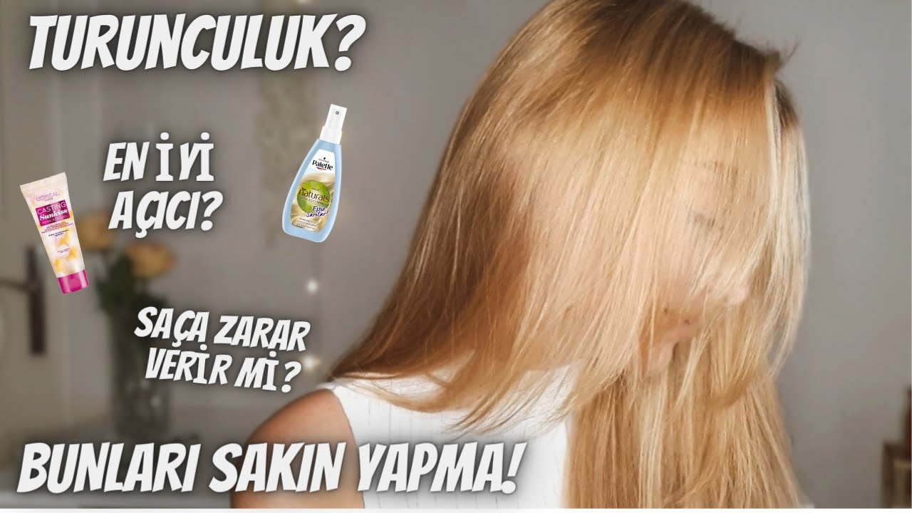 Evde Saçlarımın Rengini Nasıl Açtım? En İyi Saç Açıcı Hangisi?  Sunkiss, Palette, Nevablond, Pauline