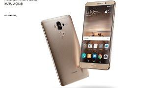 Huawei mate 9 gold renk kutu açılışı ve arka kapak